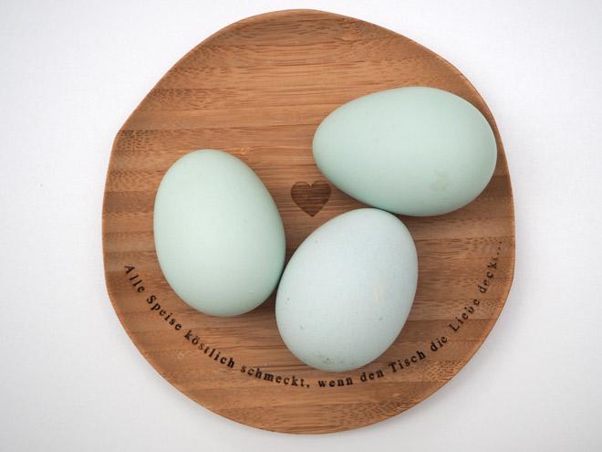 keine Windeier mehr sondern wunderschöne grüne Eier